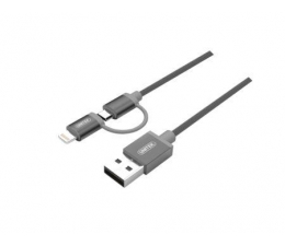 Kabel USB Unitek Kabel USB 2.0 - 2w1 micro USB i Lightning MFI, 1m