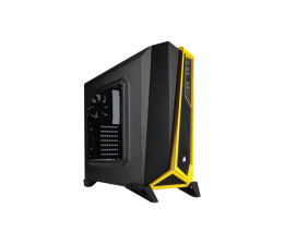 Obudowa do komputera Corsair Carbide Series SPEC-ALPHA czarno-żółta z oknem