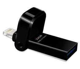 Pendrive (pamięć USB) ADATA 32GB i-Memory AI920 jet black (USB 3.1+Lightning)