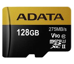Karta pamięci microSD ADATA 128GB microSDXC zapis 155MB/s odczyt 275MB/s