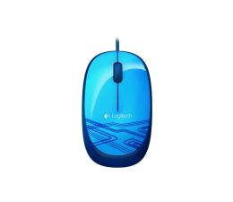 Myszka przewodowa Logitech M105 niebieska USB