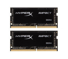 Pamięć RAM SODIMM DDR4 HyperX 32GB (2x16GB) 2666MHz CL15 Impact Black