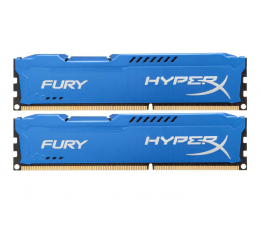 Pamięć RAM DDR3 HyperX 8GB 1600MHz Fury Blue CL10 (2x4GB)