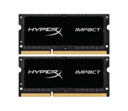 Pamięć RAM SODIMM DDR3 HyperX 16GB 1600MHz Impact Black CL9 1.35V (2x8GB)