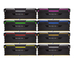 Pamięć RAM DDR4 Corsair 64GB 2666MHz Vengeance RGB LED (8x8GB)