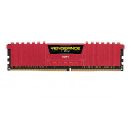 Pamięć RAM DDR4 Corsair 8GB (1x8GB) 2666MHz CL16 Vengeance LPX Red