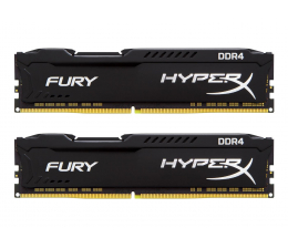 Pamięć RAM DDR4 HyperX 16GB 2400MHz Fury Black CL15 (2x8GB)