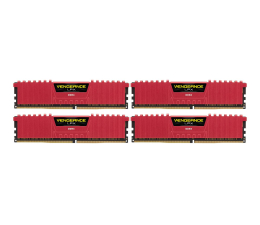 Pamięć RAM DDR4 Corsair 16GB 2133MHz Vengeance LPX Red CL13 (4x4GB)