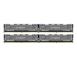 Pamięć RAM DDR4 Crucial 64GB 2400MHz Ballistix Sport LT Gray CL16 (4x16GB)