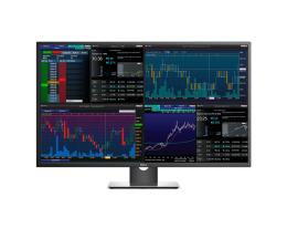 "Monitor LED 32"" i większy Dell P4317Q srebrno-czarny"