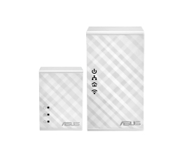Adapter HomePlug (PLC) ASUS PL-N12 KIT PowerLine LAN+WiFi 300Mb/s