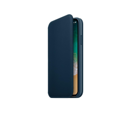 Etui / obudowa na smartfona Apple Leather Folio do iPhone X Cosmos Blue