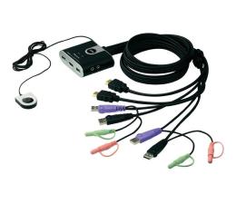 Przełącznik KVM ATEN CS692-AT USB + HDMI + audio (2 komputery) 1,8m