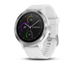 Zegarek sportowy Garmin Vivoactive 3 Srebrny z Białym Paskiem
