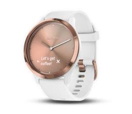 Zegarek sportowy Garmin Vivomove HR Sport Różowy Złoty / biały pasek