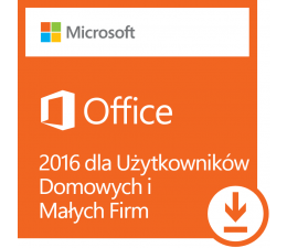 Program biurowy Microsoft Office 2016 dla Użytk. Domowych i Małych Firm ESD