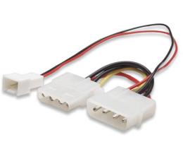 Przejściówka adapter zasilania 3pin - 4pin molex (wentylator)