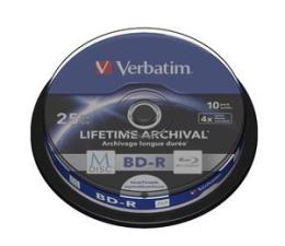 Płyta BD-R Verbatim  M-DISC 25GB X4 INKJET PRINTABLE (10 CAKE)