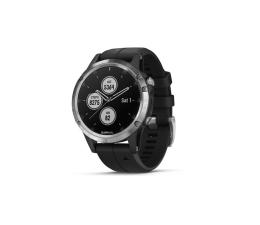 Zegarek sportowy Garmin Fenix 5 Plus Srebrny z Czarnym Paskiem