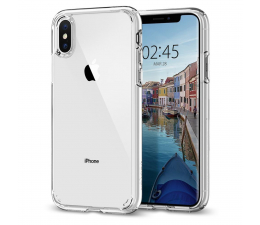 Etui/obudowa na smartfona Spigen Ultra Hybrid do iPhone XS Crystal Clear