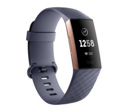 Smartband Fitbit Charge 3 Różowe Złoto / Niebieska Szarość