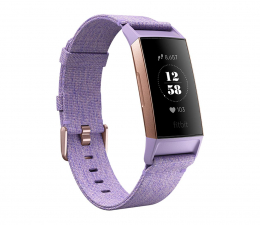 Zegarek sportowy Fitbit Charge 3 Special Edition Różowe Złoto - Lawendowy