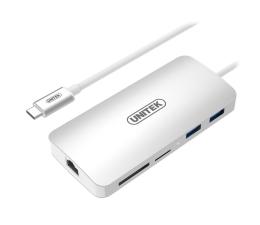 Stacja dokująca do laptopa Unitek USB-C - USB, USB-C, RJ-45, HDMI, 4K, PD