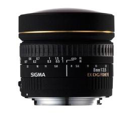 Obiektywy stałoogniskowy Sigma 8mm f/3.5 DG EX rybie oko Nikon