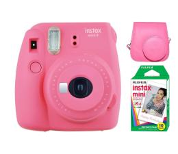 Aparat natychmiastowy Fujifilm Instax Mini 9 różowy + wkład 10PK + pokrowiec