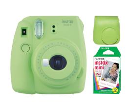 Aparat natychmiastowy Fujifilm Instax Mini 9 zielony + wkład 10PK + pokrowiec
