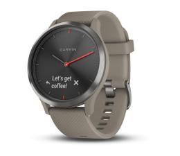 Zegarek sportowy Garmin Vivomove HR Sport czarny z piaskowym paskiem