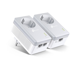 Adapter HomePlug (PLC) TP-Link TL-PA4022P KIT PowerLine 600Mb/s (2 szt, gniazdo)
