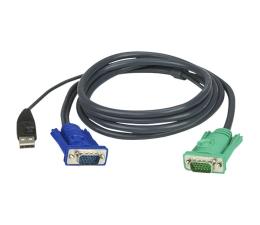 Przełącznik KVM ATEN Kabel HD15 - SVGA + mysz + klaw USB 2.0m