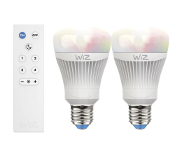 Inteligentna żarówka WiZ Colors RGB LED WiZ60 TR (E27/806lm) 2szt.+pilot
