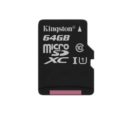Karta pamięci microSD Kingston 64GB microSDXC Canvas Select 80MB/s C10 UHS-I