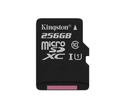 Karta pamięci microSD Kingston 256GB microSDXC Canvas Select 80MB/s C10 UHS-I