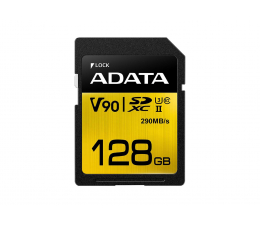 Karta pamięci SD ADATA 128GB Premier ONE 290MB/s C10 UHS-II U3