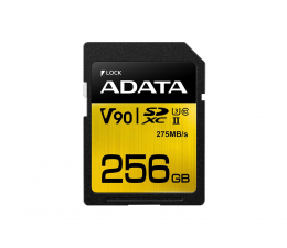 Karta pamięci SD ADATA 256GB Premier ONE 275MB/s C10 UHS-II U3
