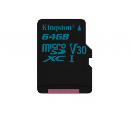 Karta pamięci microSD Kingston 64GB microSDXC Canvas Go! 90MB/s C10 UHS-I V30