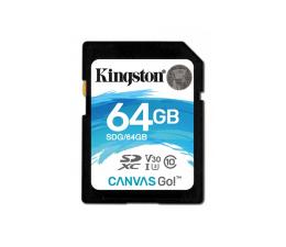 Karta pamięci SD Kingston 64GB SDXC Canvas Go! 90MB/s C10 UHS-I U3