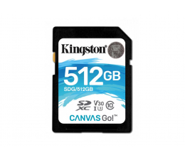 Karta pamięci SD Kingston 512GB SDXC Canvas Go! 90MB/s C10 UHS-I U3