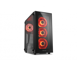 Obudowa do komputera Sharkoon TG5 Glass Red