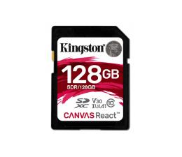 Karta pamięci SD Kingston 128GB SDXC Canvas React 100MB/s C10 UHS-I U3 V30