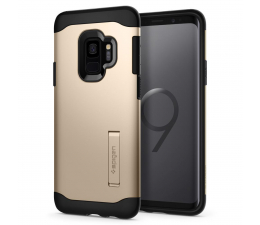 Etui/obudowa na smartfona Spigen Slim Armor do Galaxy S9 Maple Gold