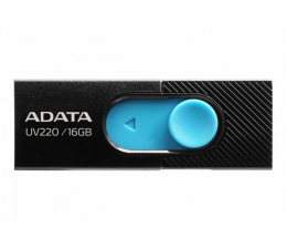 Pendrive (pamięć USB) ADATA 16GB UV220 czarno-niebieski