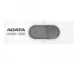 Pendrive (pamięć USB) ADATA 32GB UV220 biało-szary