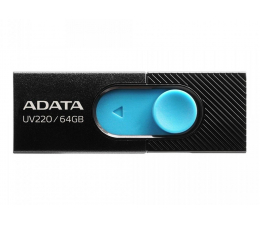 Pendrive (pamięć USB) ADATA 64GB UV220 czarno-niebieski
