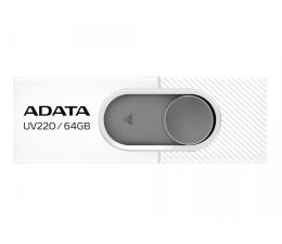 Pendrive (pamięć USB) ADATA 64GB UV220 biało-szary