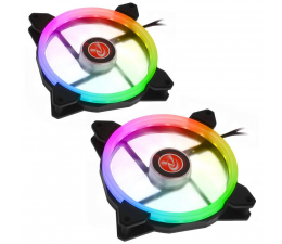 Wentylator do komputera Raijintek IRIS Rainbow 140mm RGB (2Pack)