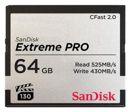 Karta pamięci CFast SanDisk 64GB Extreme PRO CFAST 2.0 525MB/s VPG130
